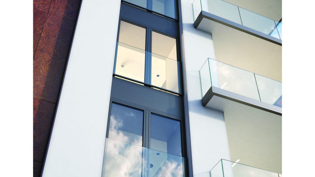 Алюминиевый профиль для крепления стекла триплекс - F50