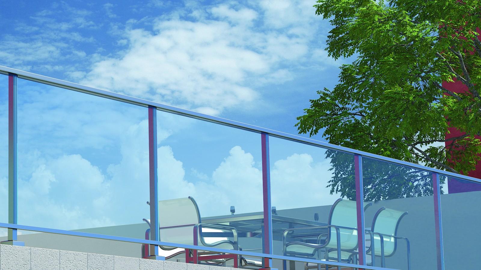 Перила алюминиевые ограждения — Horizon